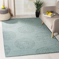 Safavieh Handmade Circ Grey New Zealand Wool Rug - 7'6 x 9'6