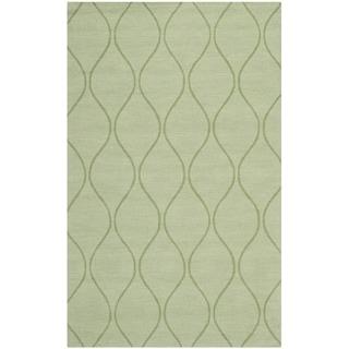 Safavieh Handmade Timeless Green New Zealand Wool Rug (4' x 6')