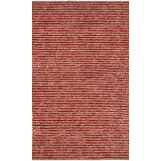 Safavieh Hand-knotted Vegetable Dye Chunky Red Hemp Rug (2' x 3')