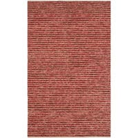 Safavieh Hand-knotted Vegetable Dye Chunky Red Hemp Rug - 2' x 3'