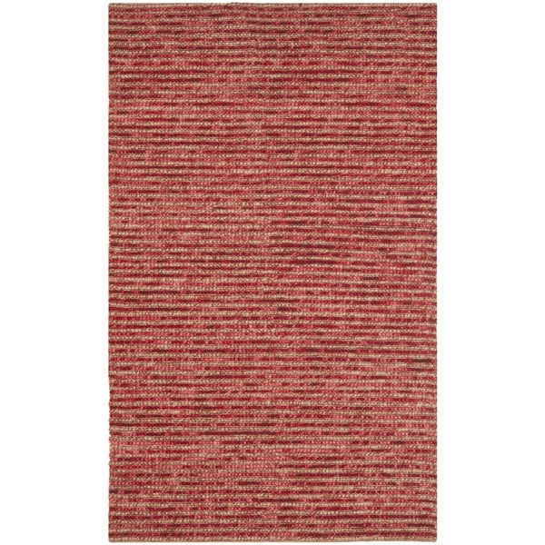 Safavieh Hand-knotted Vegetable Dye Chunky Red Hemp Rug (6' x 6' Square)