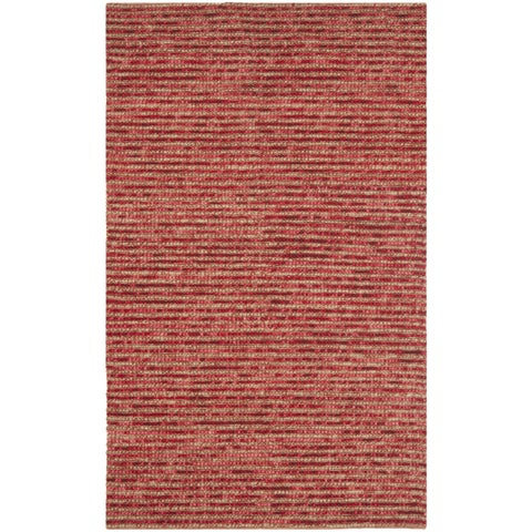 Safavieh Hand-knotted Vegetable Dye Chunky Red Hemp Rug - 6' x 6' Square