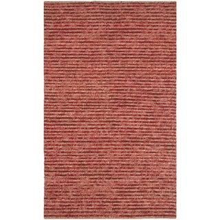 Safavieh Hand-knotted Vegetable Dye Chunky Red Hemp Rug - 5' x 8'