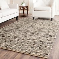 Safavieh Hand-knotted Vegetable Dye Chunky Grey Blue Hemp Rug - 5' x 8'