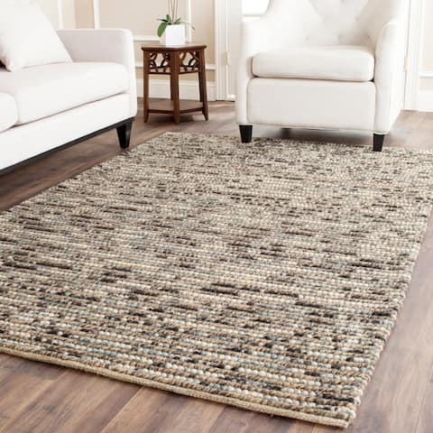 Safavieh Hand-knotted Vegetable Dye Chunky Blue Hemp Rug - 8' x 10'