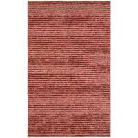 Safavieh Hand-knotted Vegetable Dye Chunky Red Hemp Rug - 3' x 5'