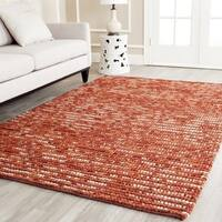 Safavieh Hand-knotted Vegetable Dye Chunky Rust Hemp Rug - 3' x 5'