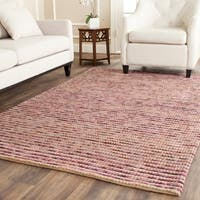 Safavieh Hand-knotted Vegetable Dye Chunky Purple Hemp Rug - 4' x 6'