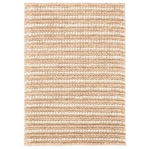 Safavieh Hand-knotted Vegetable Dye Chunky Beige Hemp Rug - 2' x 3'