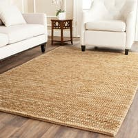 Safavieh Hand-knotted Vegetable Dye Chunky Beige Hemp Rug - 5' x 8'