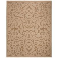 Safavieh Handmade Irongate Scrolls Light Brown New Zealand Wool Rug - 6' x 9'