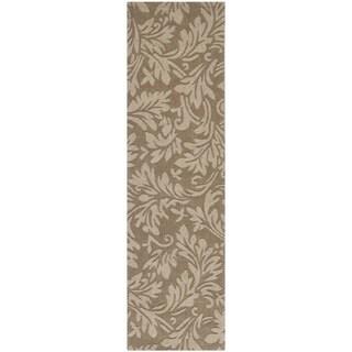 Safavieh Handmade Fern Scrolls Brown New Zealand Wool Rug (2' 3 x 12')