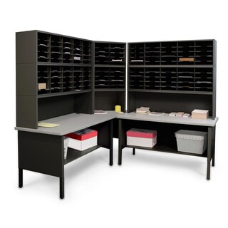 Marvel Mail Organizer Utility Table with Adjustable Cubbies (120 Cubbies) (2 options available)