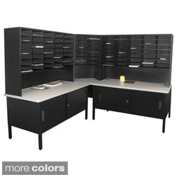 Marvel Mail Organizer, Utility Table and Cabinets (84 Cubbies)