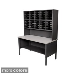 Marvel Mail Sorting Station, 50 Adjustable Cubbies with Riser