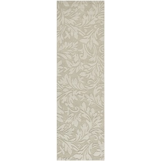 Safavieh Handmade Fern Scrolls Sage New Zealand Wool Rug (2' 3 x 8')