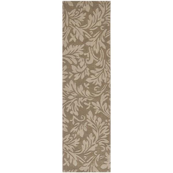 Safavieh Handmade Fern Scrolls Brown New Zealand Wool Rug (2'3 x 8')