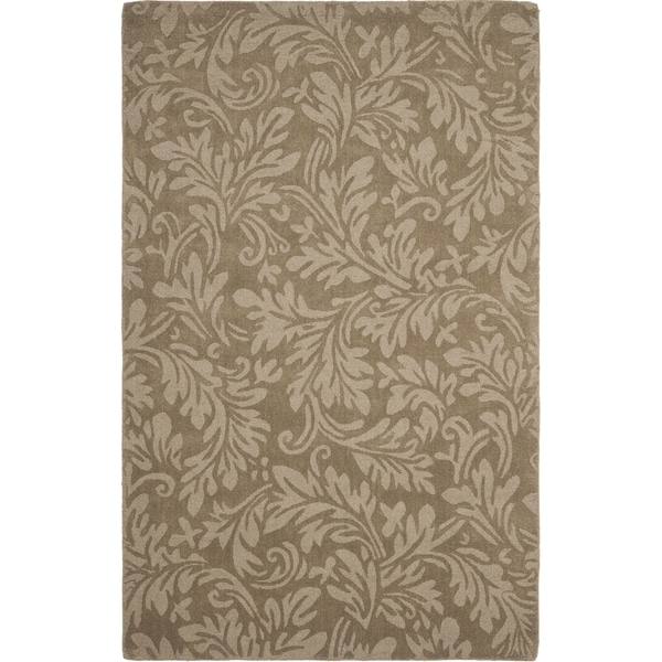 Safavieh Handmade Fern Scrolls Brown New Zealand Wool Rug (5' x 8')
