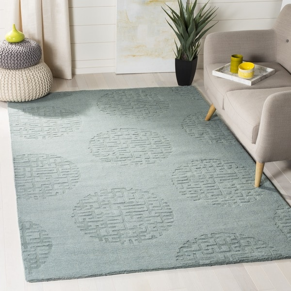 Safavieh Handmade Circ Grey New Zealand Wool Rug (5' x 8')