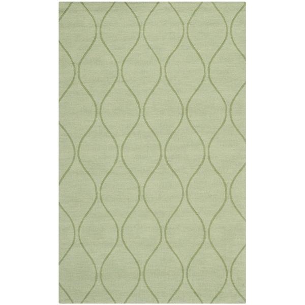 Safavieh Handmade Timeless Green New Zealand Wool Rug (5' x 8')