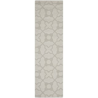 Safavieh Handmade Tranquility Silver New Zealand Wool Rug (2'3 x 8')