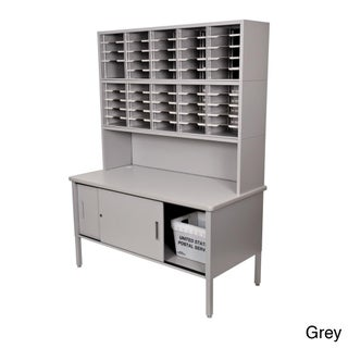 Marvel Mail Sorting Station, 50 Adjustable Cubbies with Riser and Cabinet (2 options available)