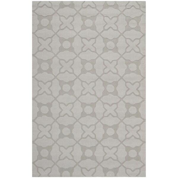 Safavieh Handmade Tranquility Silver New Zealand Wool Rug (5' x 8')