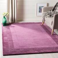 Safavieh Handmade Impressions Modern Purple New Zealand Wool Rug (5' x 8')