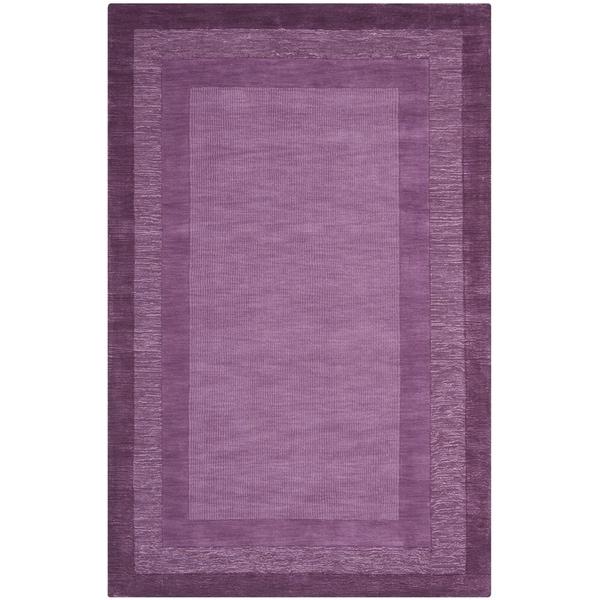 Safavieh Handmade Impressions Modern Purple New Zealand Wool Rug - 7'6 x 9'6