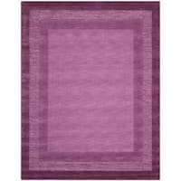 Safavieh Handmade Impressions Modern Purple New Zealand Wool Rug - 7'6 x 9'6
