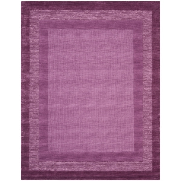 "Safavieh Handmade Impressions Modern Purple New Zealand Wool Rug - 7'6"" x 9'6"""