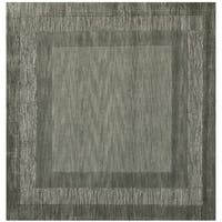 Safavieh Handmade Impressions Modern Charcoal/ Blue New Zealand Wool Rug - 6' x 6' Square