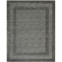 Safavieh Handmade Impressions Modern Charcoal/ Blue New Zealand Wool Rug - 7'6 x 9'6