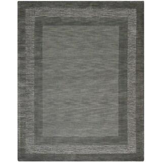 Safavieh Handmade Impressions Modern Charcoal/ Blue New Zealand Wool Rug - 7'6 x 9'6