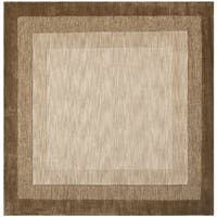 Safavieh Handmade Impressions Modern Beige/ Brown New Zealand Wool Rug - 6' x 6' Square