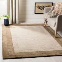 "Safavieh Handmade Impressions Modern Beige/ Brown New Zealand Wool Rug - 7'6"" x 9'6"""