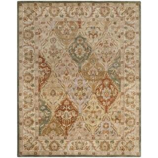 Safavieh Handmade Bakhtieri Multi/ Beige Wool Rug (5' x 8')