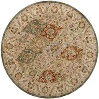 Safavieh Handmade Bakhtieri Multi/ Beige Wool Rug (6' Round)