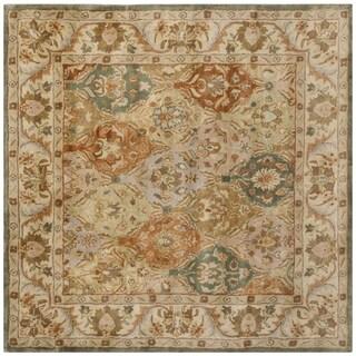 Safavieh Handmade Bakhtieri Multi/ Beige Wool Rug (6' Square)