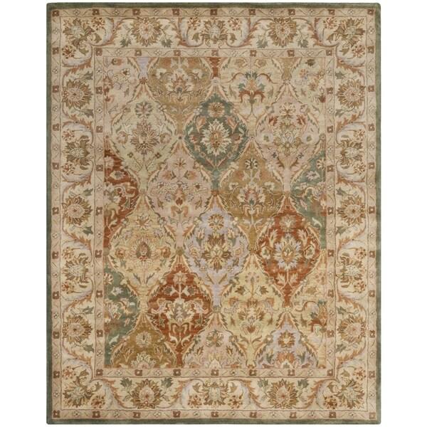 Safavieh Handmade Bakhtieri Multi/ Beige Wool Rug - 7'6 x 9'6
