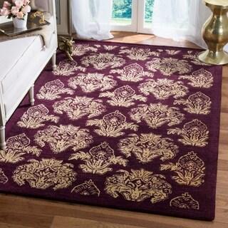 Safavieh Handmade Metro Fleur Maroon Red New Zealand Wool Rug (9' x 12')