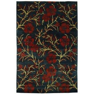 Safavieh Handmade Metro Midnight Dark Blue New Zealand Wool Rug (9' x 12')