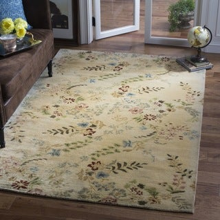 Safavieh Handmade Metro Bontanical Ivory New Zealand Wool Rug (4' x 6')