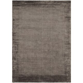 Safavieh Handmade Mirage Modern Border Grey Viscose Rug (9' x 12')
