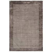 Safavieh Handmade Mirage Modern Border Grey Viscose Rug - 9' x 12'