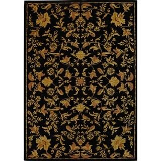 Safavieh Handmade Metro Garden Scrolls Black New Zealand Wool Rug (8' x 10')