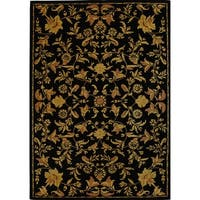 Safavieh Handmade Metro Garden Scrolls Black New Zealand Wool Rug - 8' x 10'