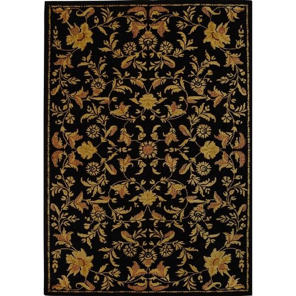 Safavieh Handmade Metro Garden Scrolls Black New Zealand Wool Rug - 8' x 10'