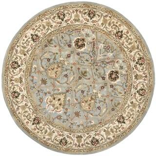 Safavieh Handmade Mahal Blue Grey/ Ivory New Zealand Wool Rug (6' Round)