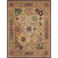 Safavieh Handmade Persian Legend Diamonds Multi/ Rust N.Z. Wool Rug - 7'6 x 9'6